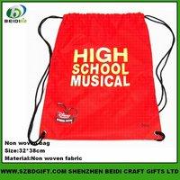 Custom Nice Sublimation Printed Polyester Drawstring Bag for Promotion