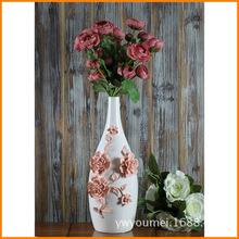 Beautiful house creative modern European art home decor white ceramic vase ceramic vase with flowers