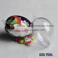 Popular Clear Transparent Plastic Sphere Outdoor Xmas Bauble