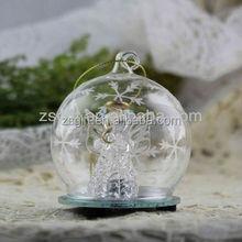 handicrafts glass ball with christmas angel inside