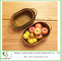 Promotional Rectangle Cheap Bamboo Fruit Baskets with Handle