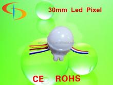 cheap pixel led street light waterproof 30mm ws2801 ip66 pixel lighting (12v 0.72w )