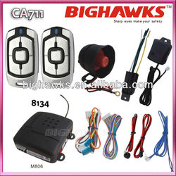 auto alarm CA711-8134 BIGHAWKS car alarm system muti-function security bac