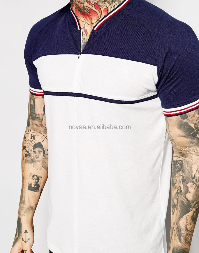 Men custom polo shirts polo shirts muscle fit no for No button polo shirts