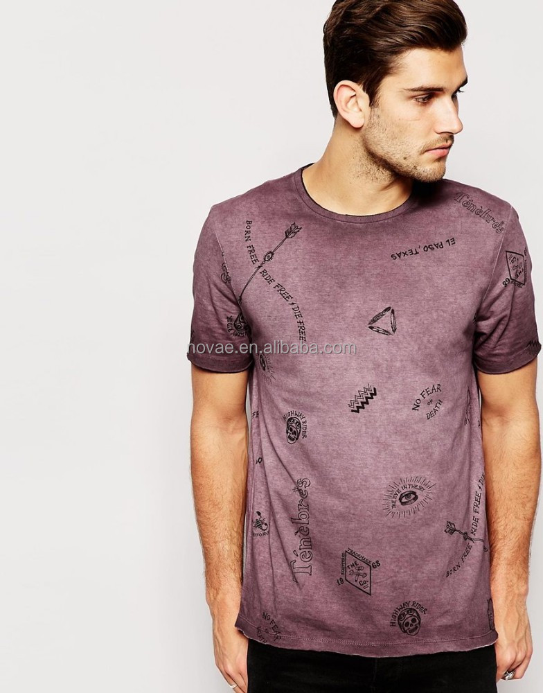 China wholesale clothing overseas all over printed t shirt for Printed t shirts wholesale