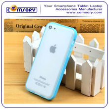 For Apple iPhone 5 5S Dual color Transparent and Frosted TPU case