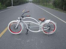 24 pulgadas de color blanco diseño moda chopper bike