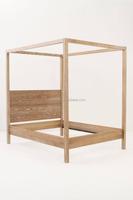 Oak Furniture bed room queen bed wooden Poster bed