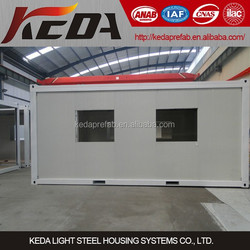 Container Homes 20ft Portable Container Office Prefabricated Houses with good quality