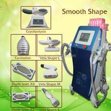 2015 Newest design!!! Potable laser fat liposuction Freeze cavitation vacuum roller rf velashape equipment