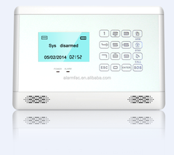 2015 New auto security system wireless pstn alarm system home security alarm fire alarm with siren
