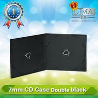 PP 7mm double black CD case,cheap double black cd case