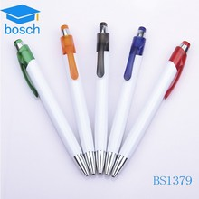 Best selling AD cheap felt tip with clip plastic pen