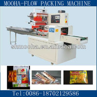 biscuit/cookies/bread/cake sachet horizontal flow packing/ wrapping machine