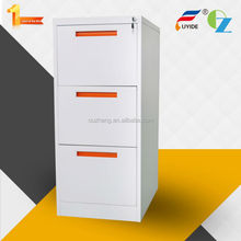 NEW Design colorful beautiful 3 drawers filing cabinet office furniture with recessed handle