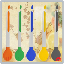 mini Silicon buffet party fruits bread salad handle utensil serving tong food tongs