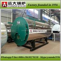 WNS series fire tube gas oil steam boiler for milk factory,industrial milk boiler, milk boiler