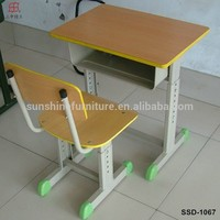 Cheap Modern School Furniture Single Seat Adjustable Student Desks