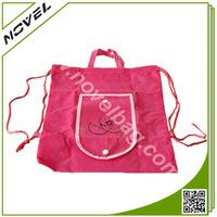 Pink Drawstring Shopping Bag with handle