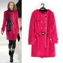 2015 Winter neue stilvolle mode stil großen mantel großen Marken reißverschluss mäntel mit schal oem service