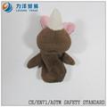 Dedo de la felpa puppets-coffe color, personalizado juguetes, CE / ASTM seguridad stardard