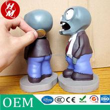 custom walking dead action figure coin bank, vinyl walking dead figure shape coin bank