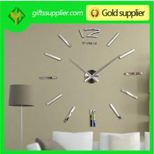 3d grande etiqueta de la pared del reloj para la decoración del hogar