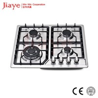 Built in stainless steel cast iron 4 burner gas hob, gas stove hob JY-S4002