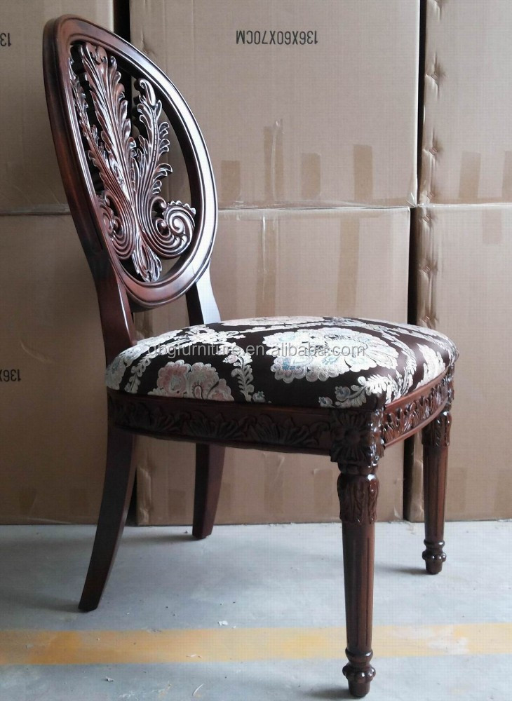 Classical Antique Look Wood Dining Chair (DC-089)