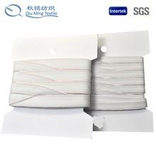 2015 nylon material and skin friendly white custom print fold over elastic