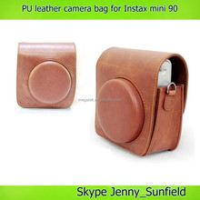 PU leather camera bag for instax mini 90 , for instax mini 90 bag case