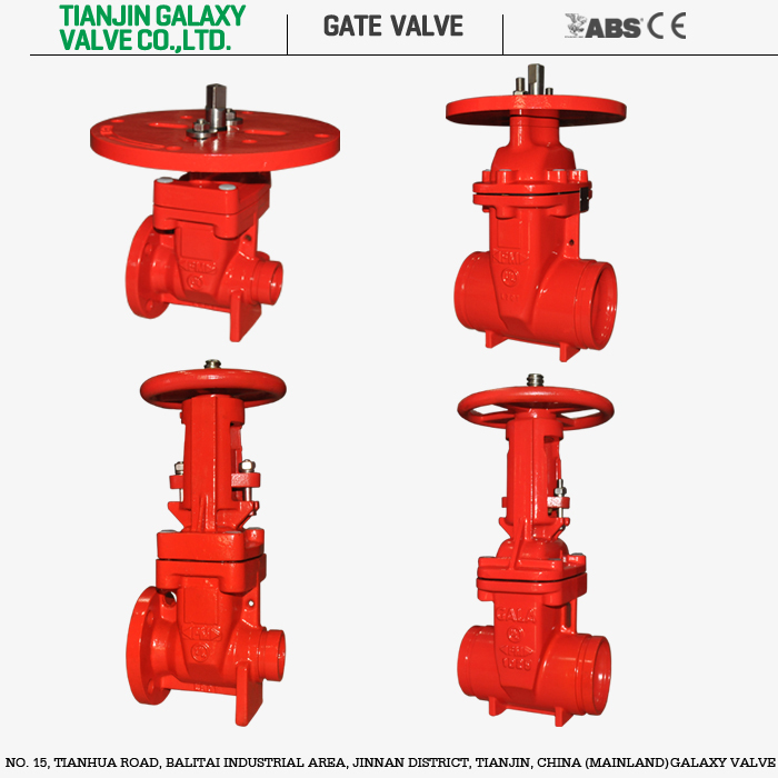 Red stem gate valve