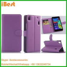 iBest high quality pu leather cover for Lenovo K3 Note, back cover for lenovo a7000
