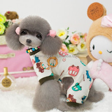 car bear printed stitching color baby cotton winter jumpsuit for dogs