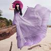 Summer vacation beach dress /Slim multi-layered chiffon bohemian dress
