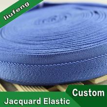 custom printed logo knitted elastic band