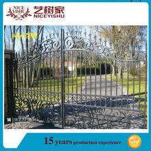 Ornamental modern wrought iron grill main gate design