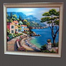 Unfading Family Office Sand Painting of Seaview House Wall Art Painting