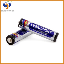 Zinc manganese dioxide r03 silver cell battery