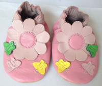 Fashion design pink butterfly leather casual shoes