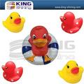 Tipo de pato y juguete del baño estilo personalizado pato de goma
