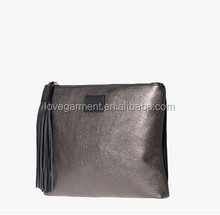 classic concise lady's shoulder bag with horse hair