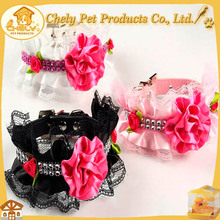 Hot Sale Premium Quality Leather Custom Dog Collar With Flowers Pet Collars & Leashes