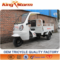 Africa Type,New sale 150CC/200cc Cabin Three Wheel Food Tricycle Cart for Sale