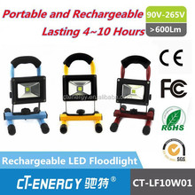 Pure White Color Temperature(CCT) and Flood Lights Item Type High Lumen 10w led work light rechargeable