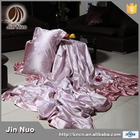 JINNUO HOT AND WHOLE SALE JACQUARED 6 PCS PURE SILK LUXURY BED SHEET SET