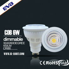 5W 6W 9W CE ROHS CUL TUV MR16 GU10 dimmable cob LED venture lamp