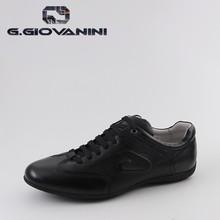 Luxury brand original design Black leather mens custom sneakers