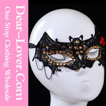 2015 cheap Sexy Lady Masquerade Halloween Party bat shape lace face mask