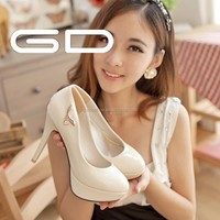 thick platform pure color patent leather women high heel shoes for spring